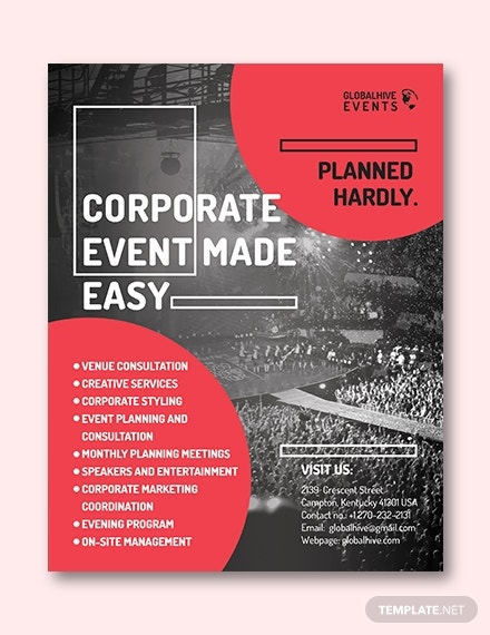 corporate event flyer invitation template
