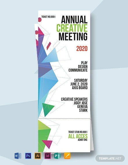 corporate event invitation ticket template