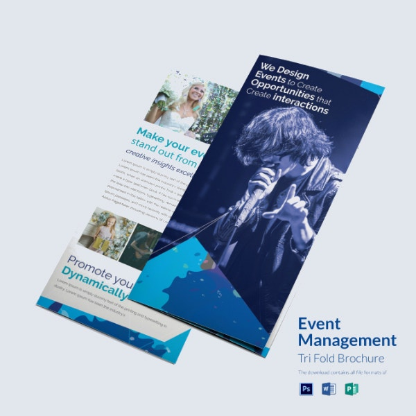 corporate event management brochure template
