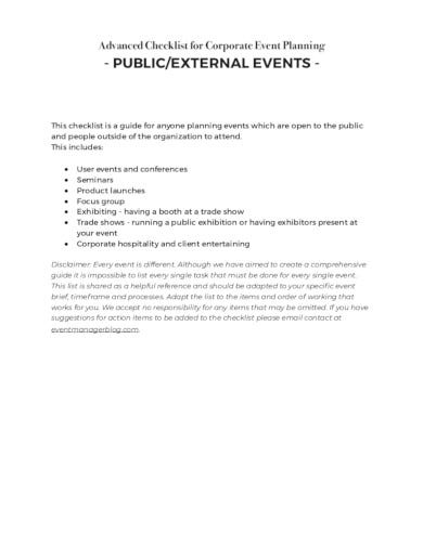 corporate event planning template