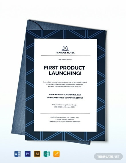corporate product launch invitation template