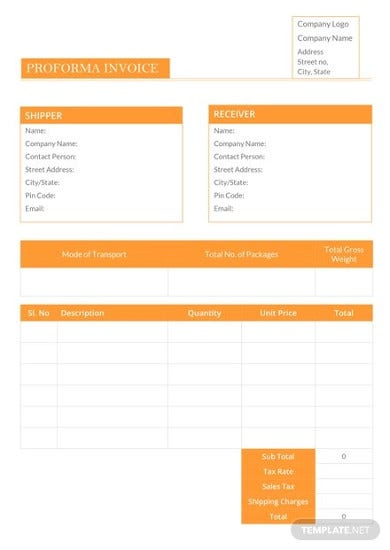 corporate proforma invoice template2