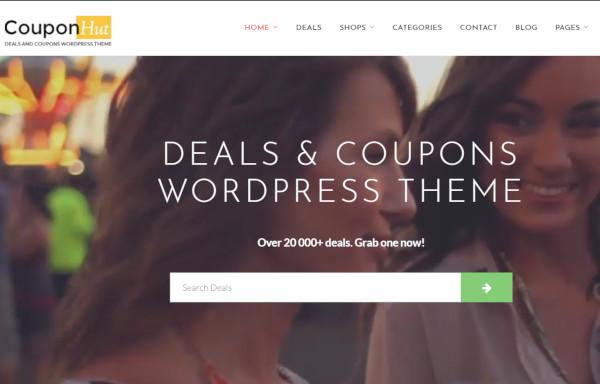 couponhut responsive wordpress theme