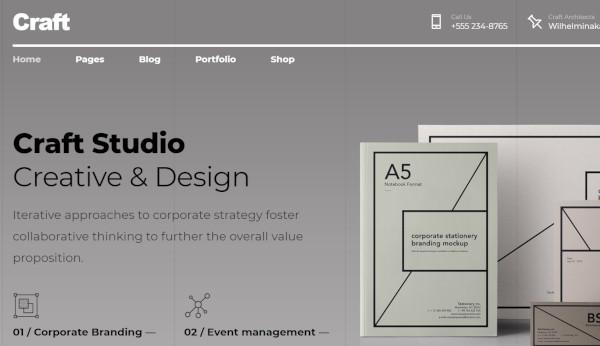 craft portfolio multilingual wordpress theme