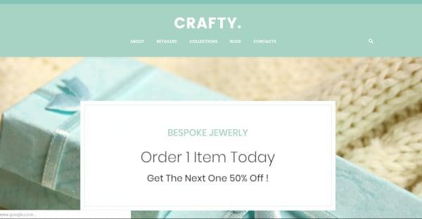 crafty – user friendly wordpress theme