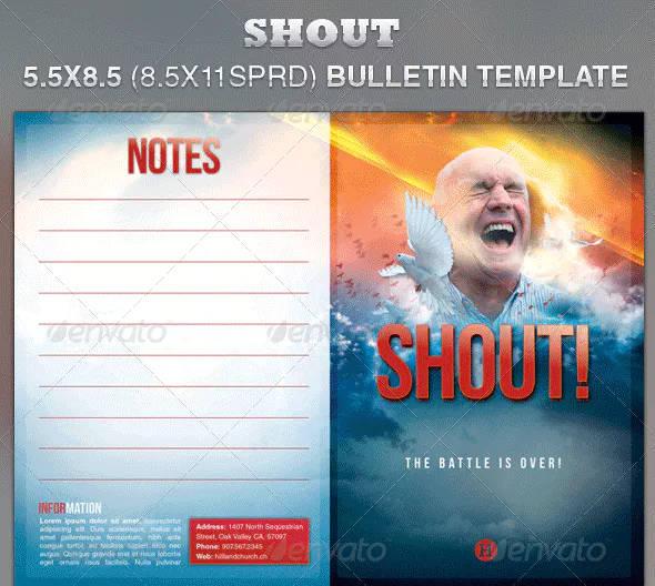 creative church bulletin example