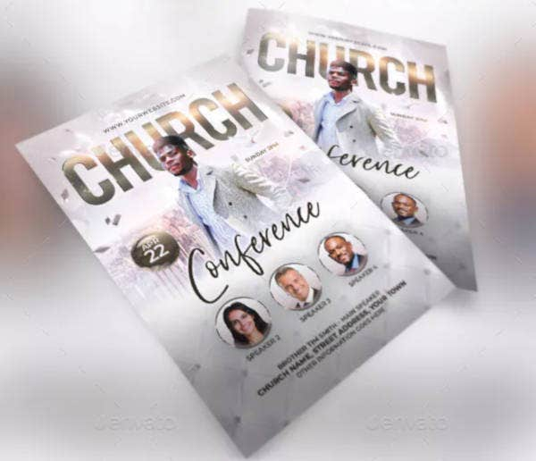 creative church flyer design