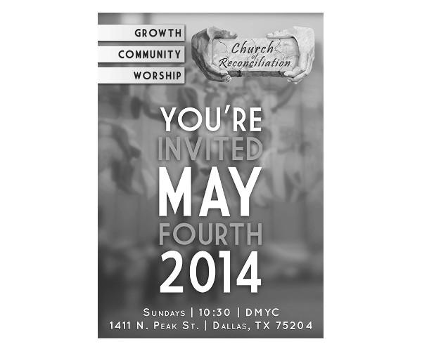 creative church invitation template