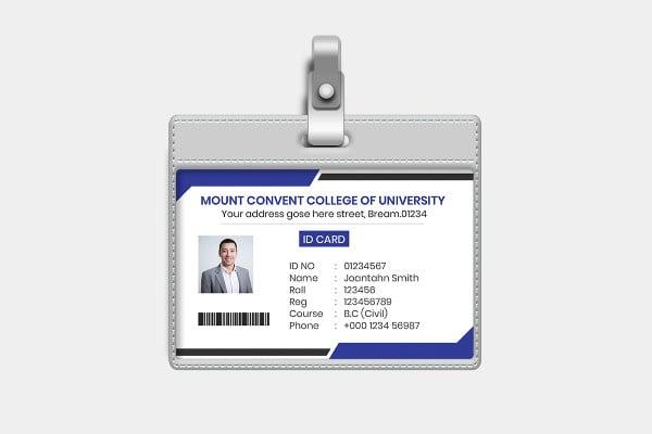 creative company id card