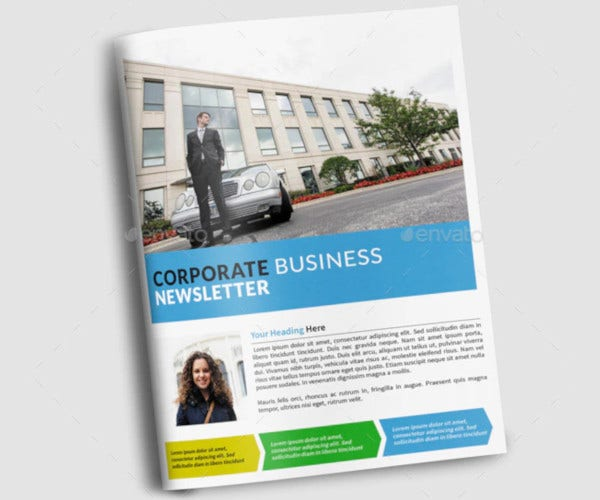 creative company newsletter template