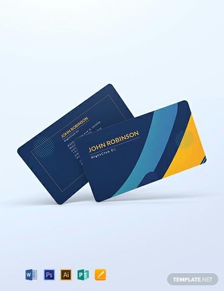 creative dj business card template 440x570 1