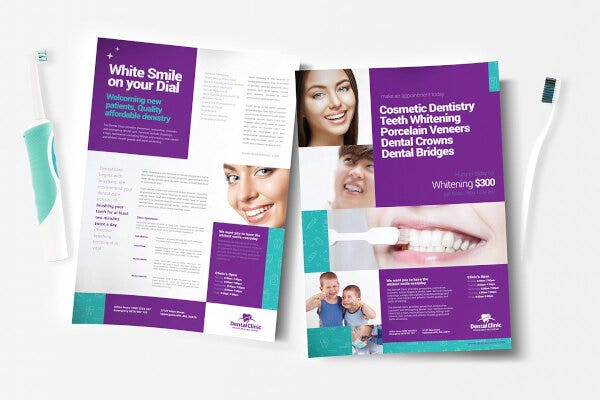 creative dental clinic poster template