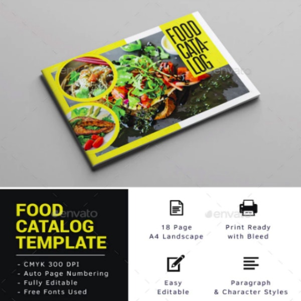 creative landscape food catalog sample