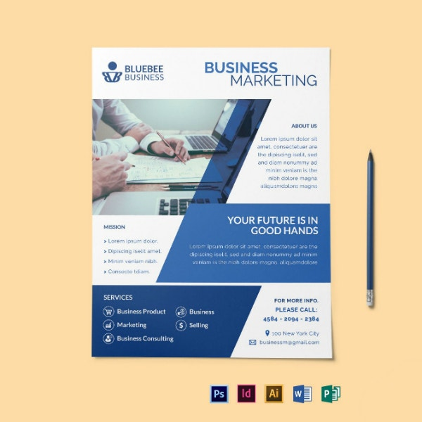 creative marketing flyer leaflet template