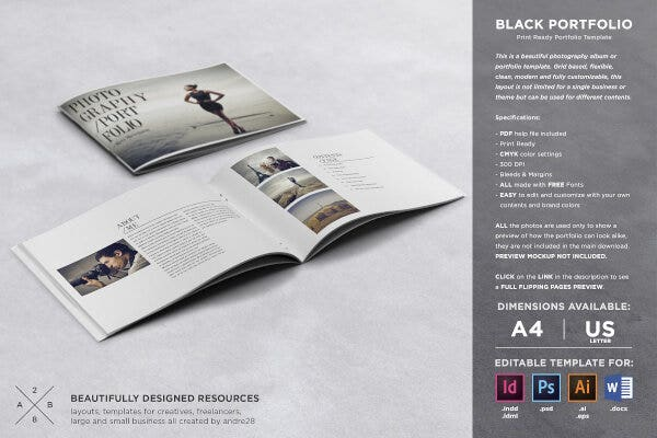 Photography Portfolio Resume Template
