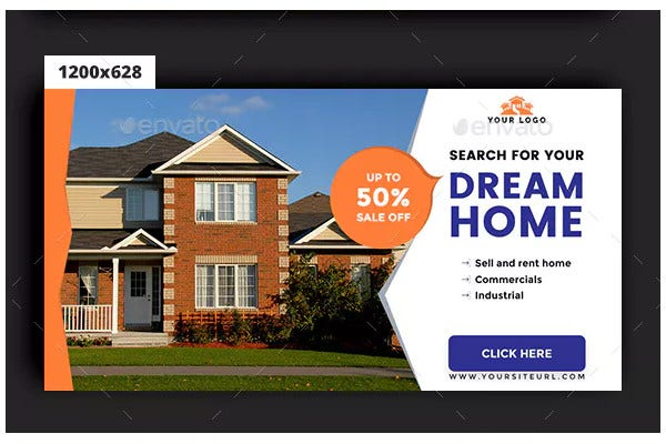 11 Free Real Estate Banner Ads Templates In Psd Jpg Free Premium Templates