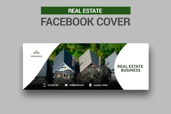 creative real estate facebook cover template