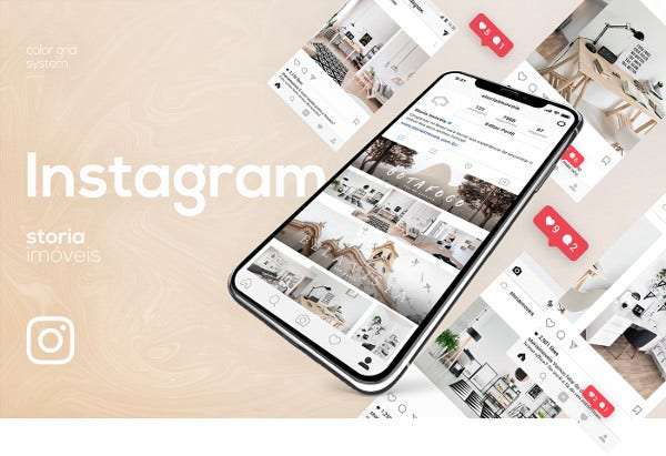creative real estate instagram in psd