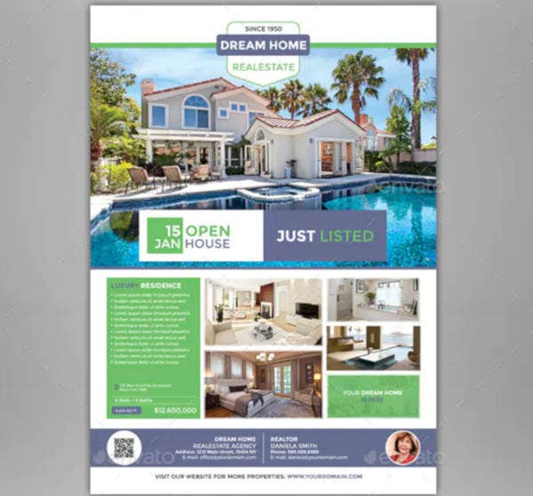creative real estate listing flyer
