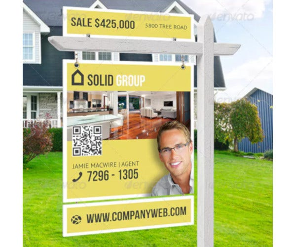creative real estate outdoor signage