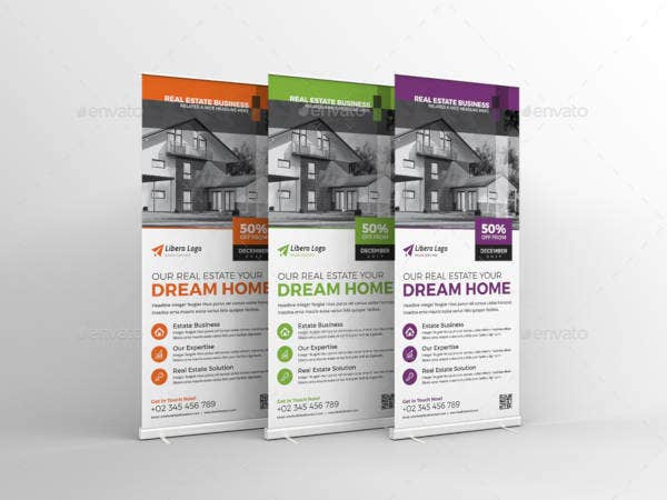 creative real estate rollup banner