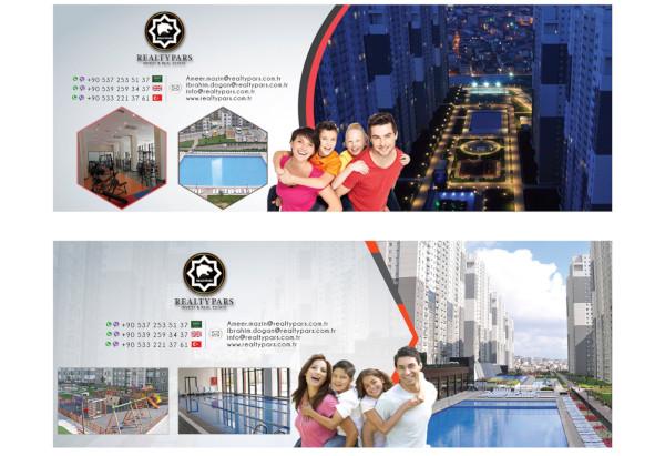 creative real estate social media banner