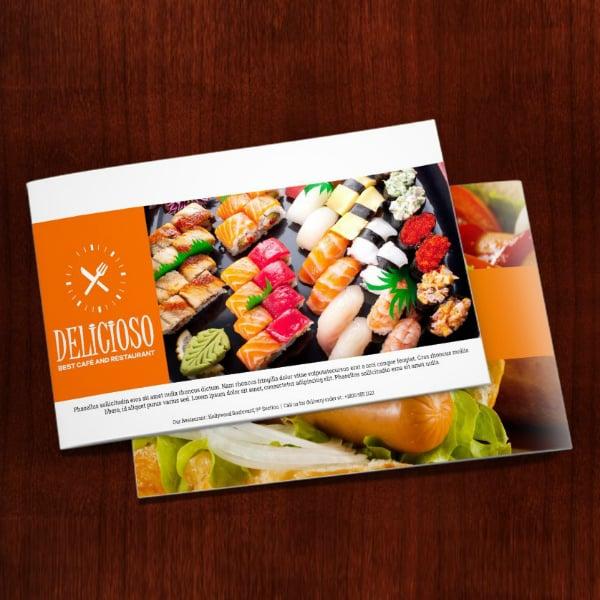 creative restaurant food catalog layout