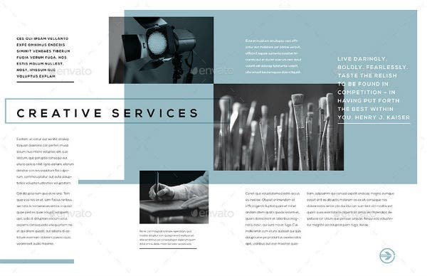 creative service catalog brochure template
