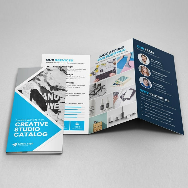 creative studio portfolio brochure sample