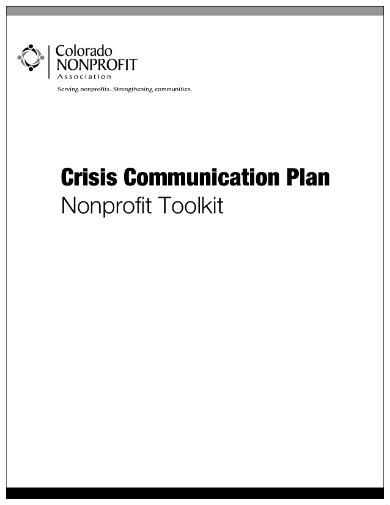 crisis communication plan sample