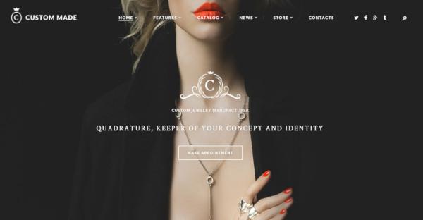 Custom Made - MailChimp Compatible WordPress Theme