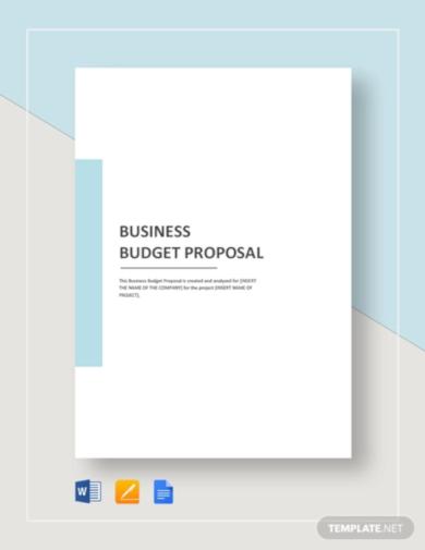 customizable business budget proposal template