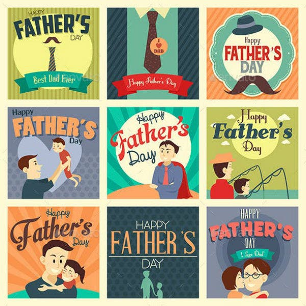 Daddy's Day Card Templates