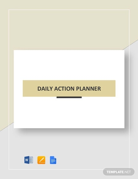 daily action planner template