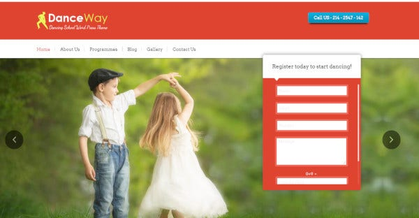 Danceway - Highly Customized WordPress Theme