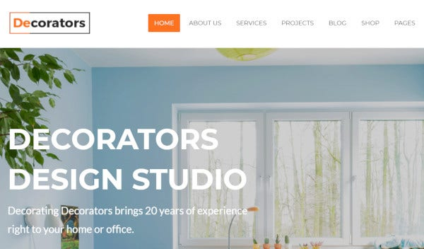 decorators html5 and css3 wordpress theme