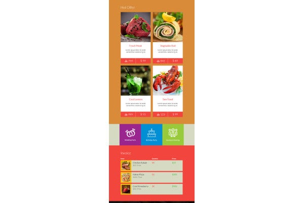 delicious restaurant email template