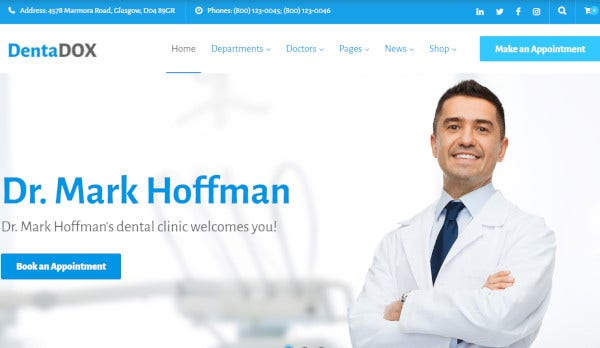 dentadox customer support wordpress theme