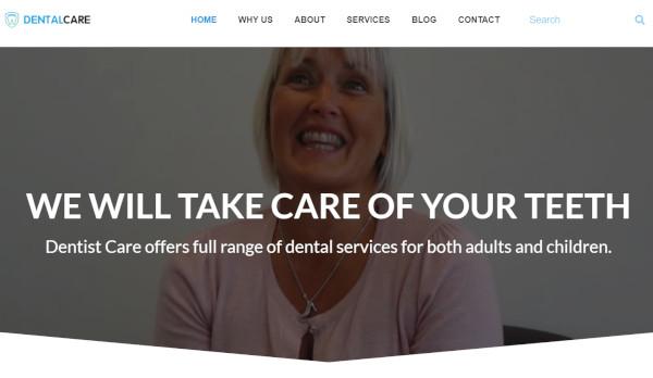 dental care visual composer wordpress theme