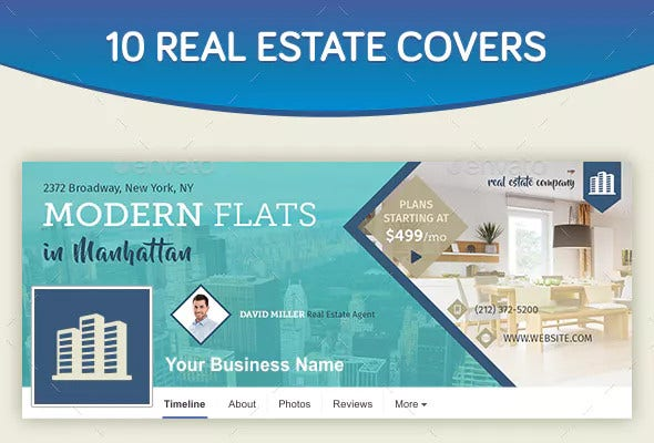 design of real estate facebook cover