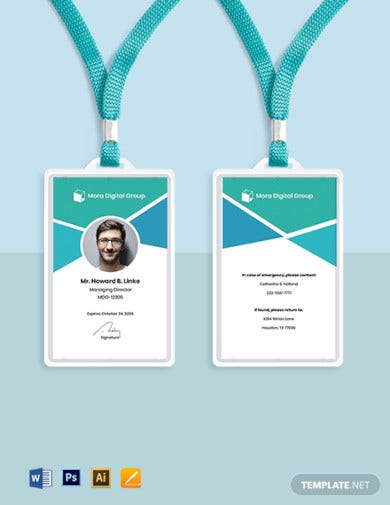 digital advertising company id card template1
