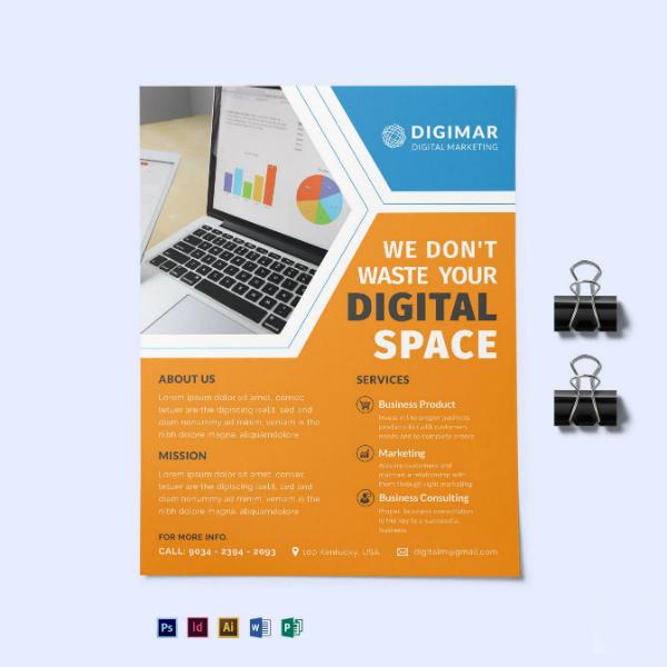 digital business marketing leaflet design