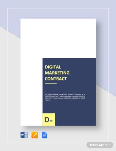digital marketing contract template