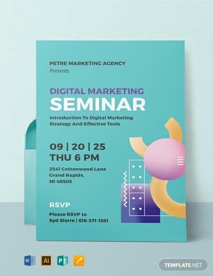 digital marketing seminar invitation format