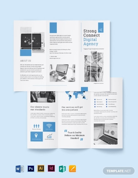 digital marketing services brochure template 2