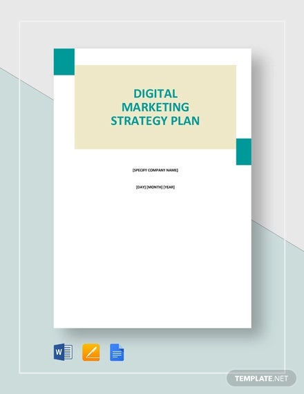 digital marketing strategy plan template