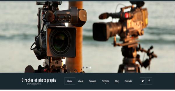 director of photography parallax effect wordpress theme