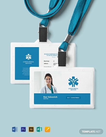 10+ Doctor ID Card Templates - MS Word, Publisher ...