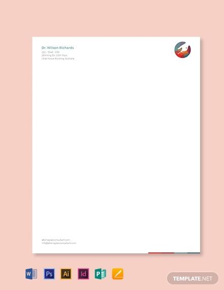 doctors office letterhead template 440x570 1