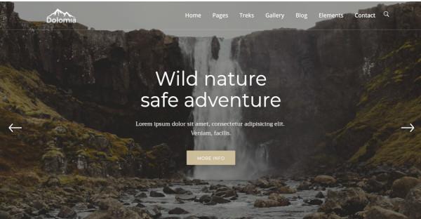 Dolomia – 600+ Google Fonts WordPress Theme